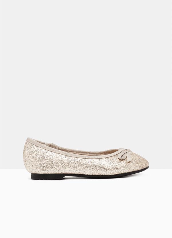 Glitter ballerina pumps with round toe | OVS