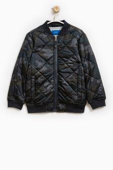 Camouflage patterned jacket, Grey, hi-res