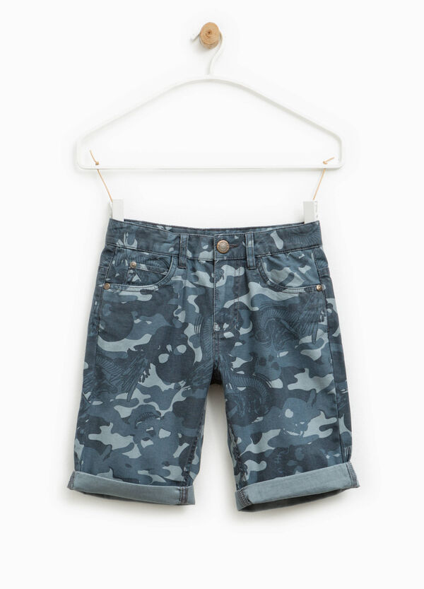 Bermuda shorts with all-over print   OVS