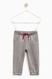 Joggers with elasticated ankles, Dark Grey, hi-res
