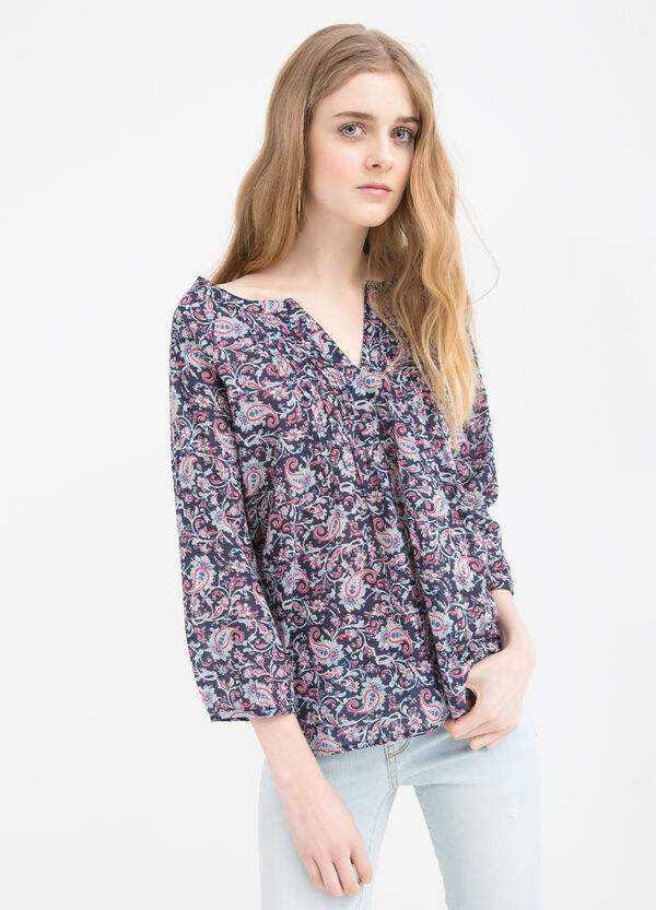 Patterned blouse in 100% cotton | OVS