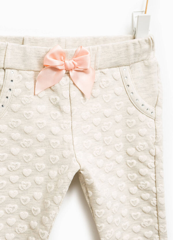 Trousers with bow at the waist and diamantés | OVS