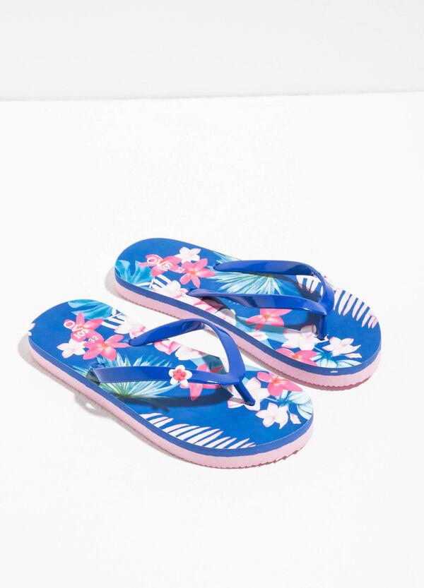 Floral patterned flip flops | OVS