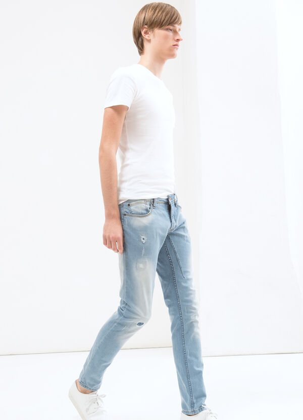 Jeans skinny fit cuciture a contrasto | OVS