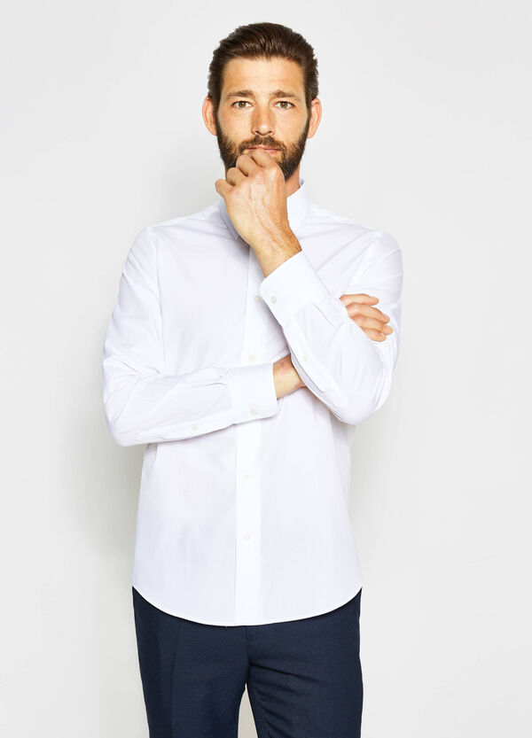 Slim-fit formal shirt in 100% cotton | OVS