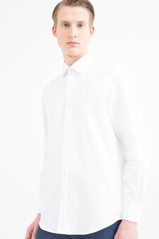 Cotton shirt with regular fit, White, hi-res