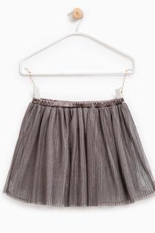 Shirt skirt with elasticated waist, Black, hi-res