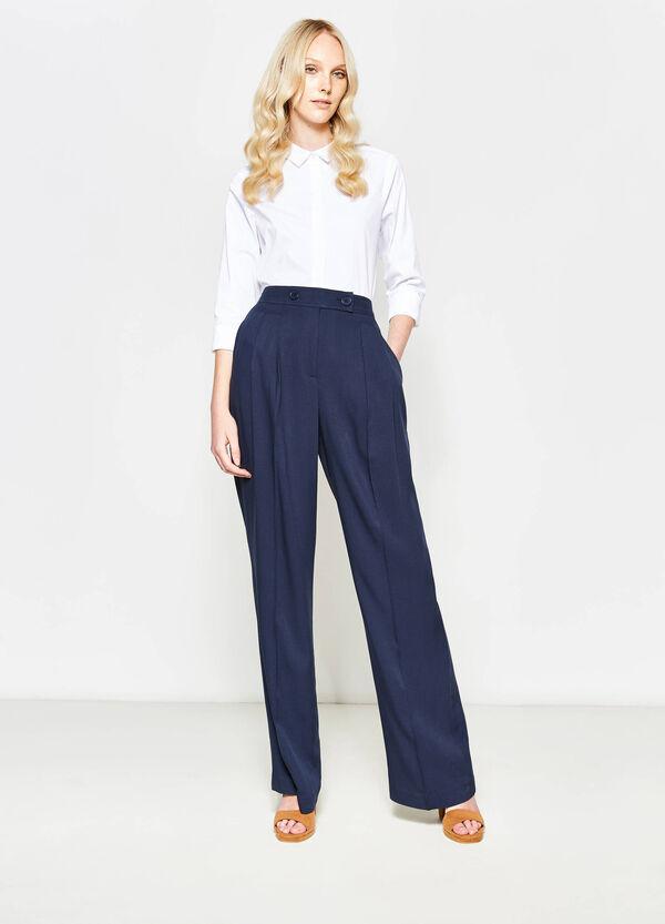 Pantalón culotte con pliegue | OVS
