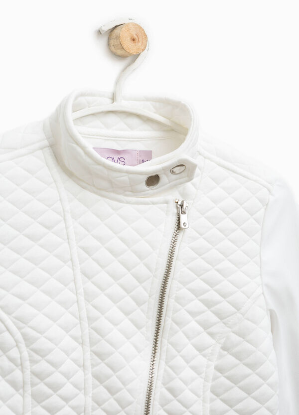 Quilted jacket with zip | OVS
