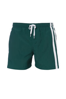 Swim boxer shorts with contrasting bands, Light Green, hi-res