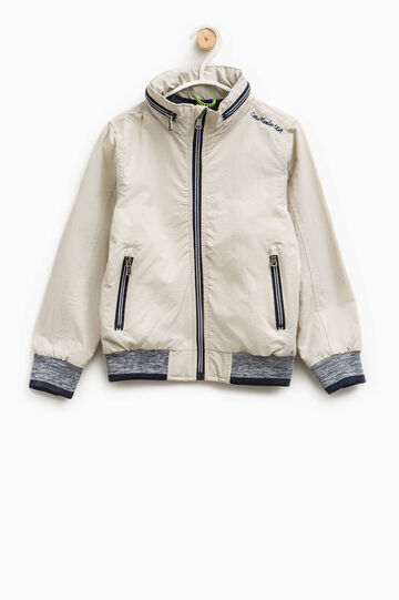 Jacket with pull-out hood, Ice White, hi-res
