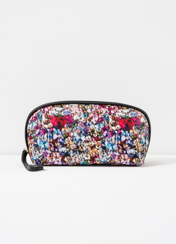 Patterned makeup bag with zip | OVS