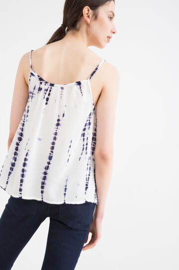 100% viscose top with pattern, White, hi-res