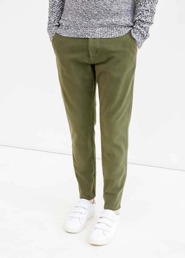 Pantaloni chino regular fit cotone stretch | OVS