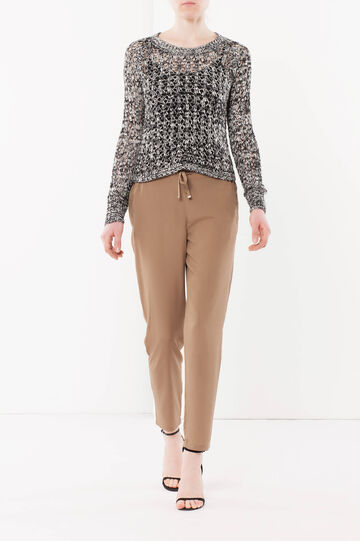 Animal patterned trousers, Cognac Brown, hi-res