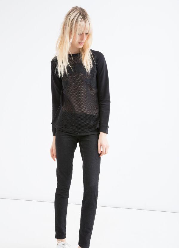 Openwork sweatshirt in 100% cotton | OVS