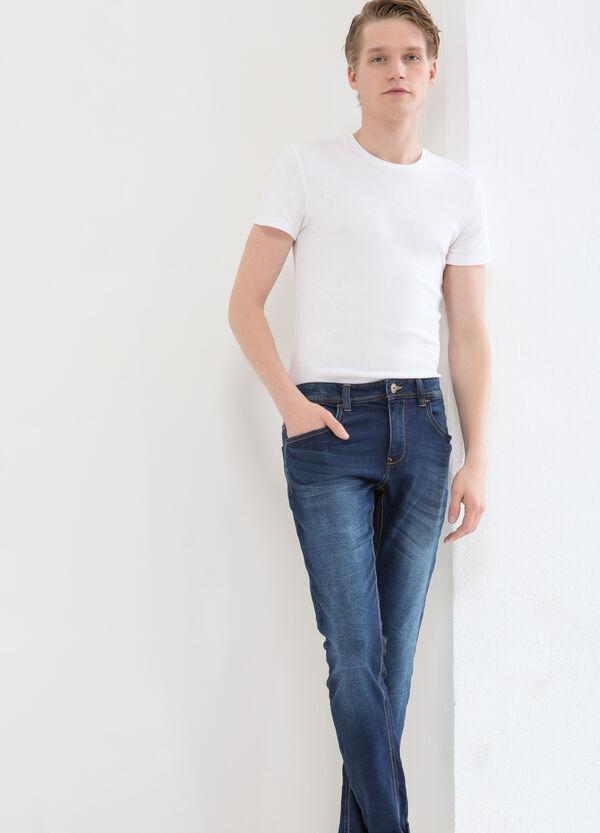 Slim-fit, worn stretch jeans | OVS