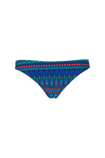 Geometric patterned briefs, Blue, hi-res