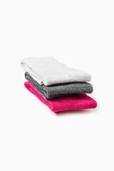 Set tre paia calze lunghe stretch, Rosa fuxia, hi-res