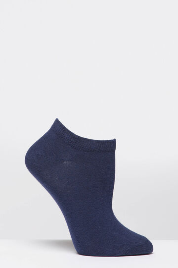 Two-pack short cotton socks, White/Blue, hi-res