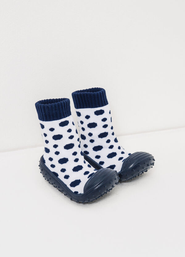 Sock slippers with polka dot pattern   OVS