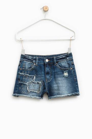 Shorts di jeans con orlo sfrangiato, Denim, hi-res
