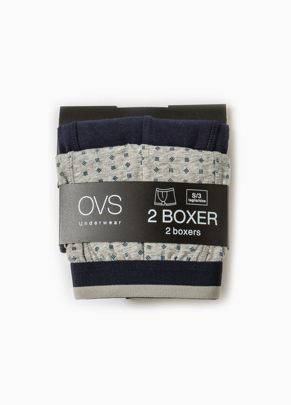 Set due boxer cotone unito e fantasia | OVS