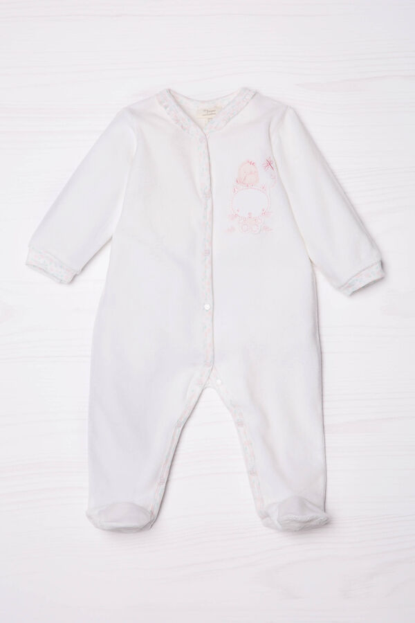 Cotton blend onesie with feet | OVS