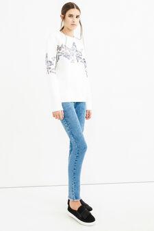 Faded-effect, super skinny-fit jeans, Blue, hi-res