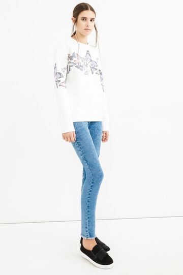 Faded-effect, super skinny-fit jeans, Blue, hi-res