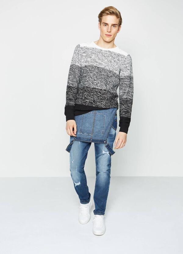 Salopette di jeans effetto used | OVS