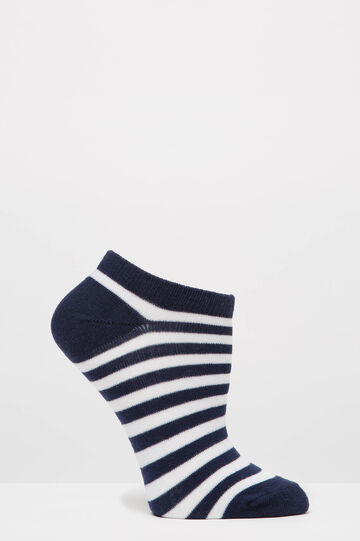 Two-pair pack patterned socks, Blue, hi-res