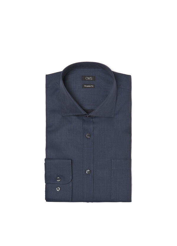 Camicia regular fit dobby cotone | OVS