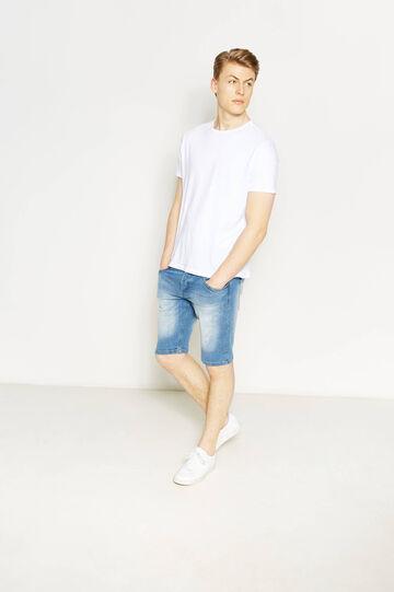 Bermuda di jeans skinny fit stretch, Lavaggio chiaro, hi-res