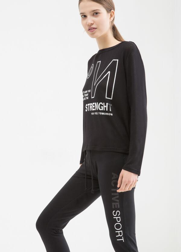 Sports T-shirt in stretch viscose | OVS