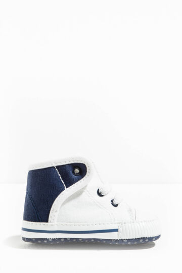 High-top sneakers with contrasting back