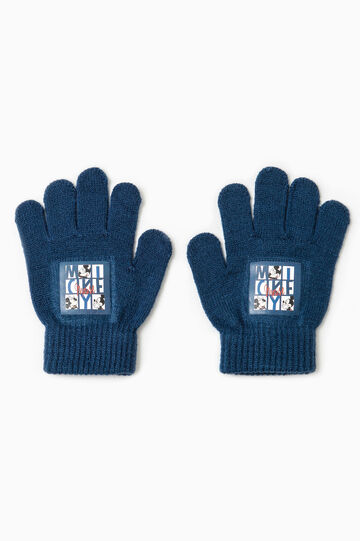 Gloves with Mickey Mouse print, Navy Blue, hi-res