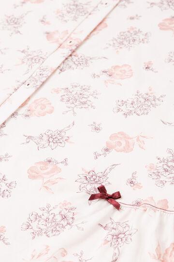 Floral patterned nightshirt, White, hi-res