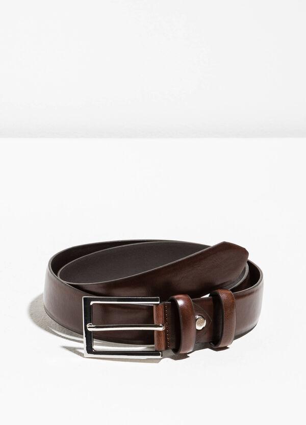 Cintura liscia con fibbia rettangolare | OVS