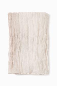 Degradé creased-effect scarf, Mud Brown, hi-res