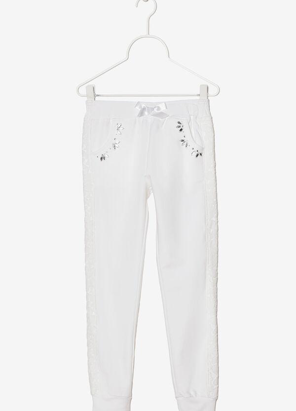 Pantaloni stretch con strass e fiocco | OVS