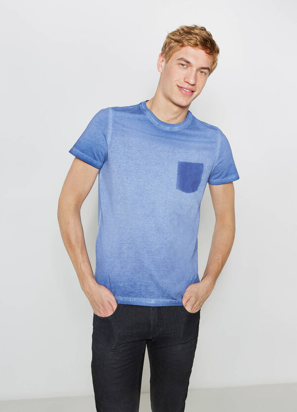 G&H washed-effect T-shirt with faux small pocket | OVS