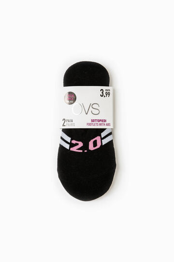 Two-pair pack shoe liners, Black/White, hi-res