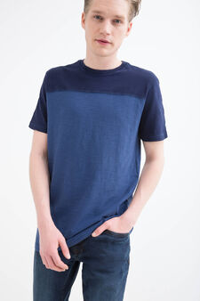 100% cotton T-shirt with crew-neck, Soft Blue, hi-res