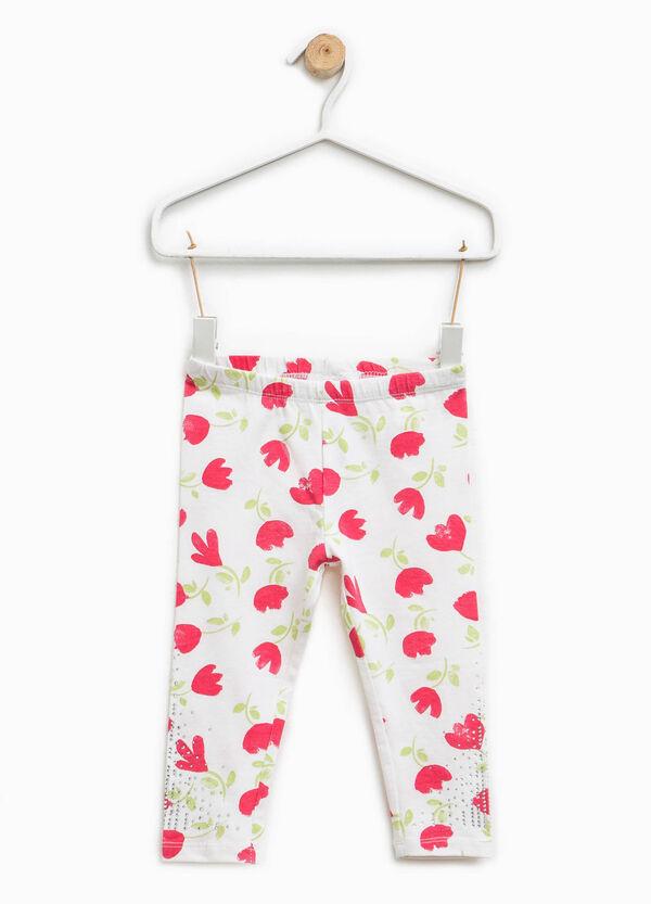 Pantaloni stretch fantasia con strass | OVS