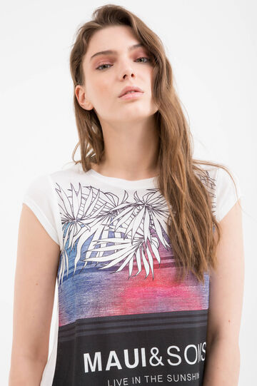 T-shirt pura viscosa Maui and Sons, Bianco, hi-res