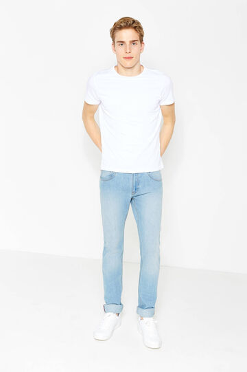 Solid colour regular-fit jeans, Light Wash, hi-res