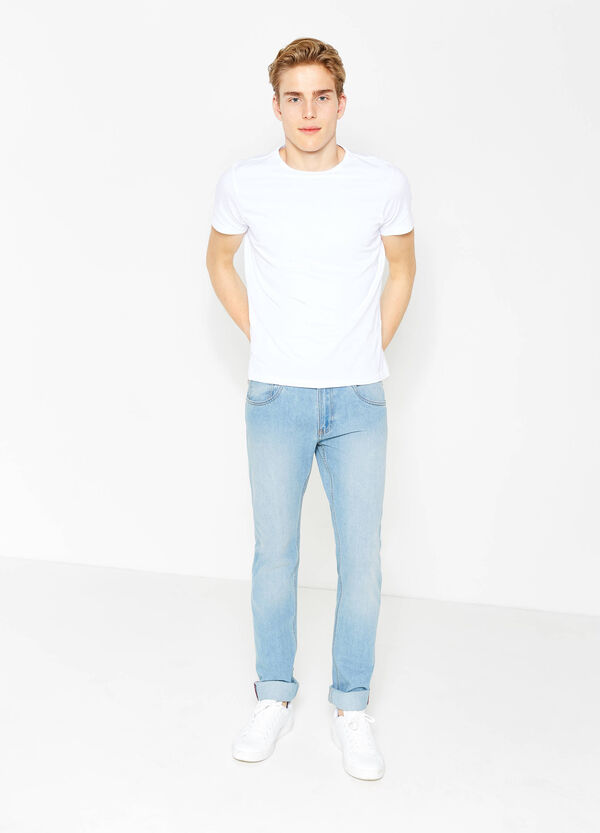 Solid colour regular-fit jeans | OVS