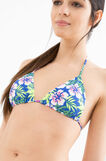Patterned triangular top, Blue/Yellow, hi-res