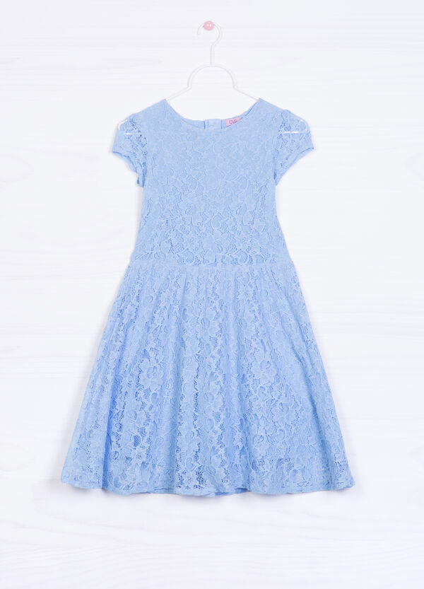 Solid colour lace dress | OVS